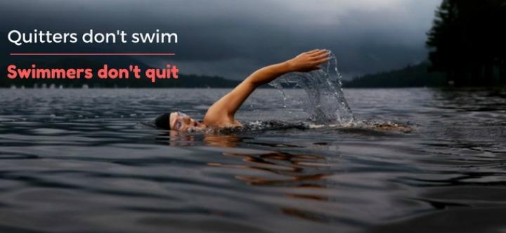 Humman swimming