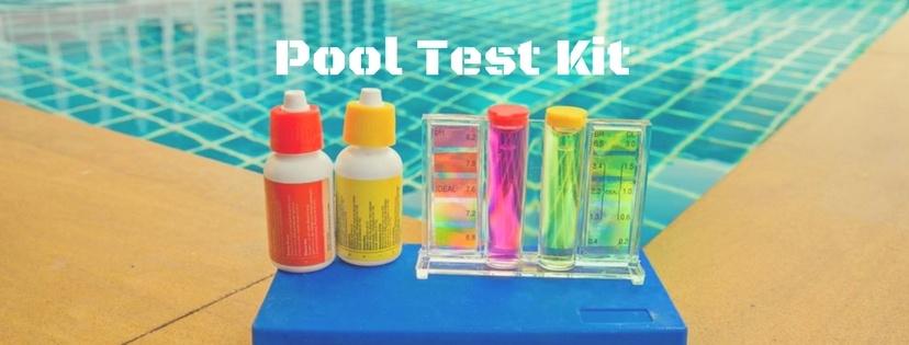 Pool test kit for pool maintenance