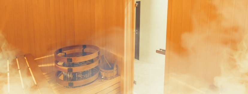 traditional steam sauna room
