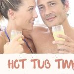 Hot tub tub couple relax inflatable hot tub