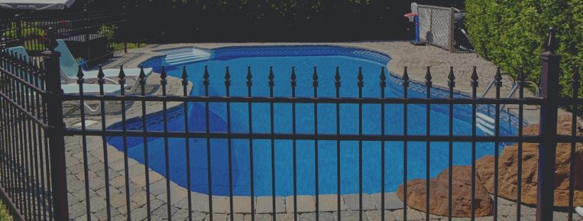 The beautiful swimming pool fence
